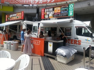 HOOTERSビアガーデンinお台場ヴィーナスフォート